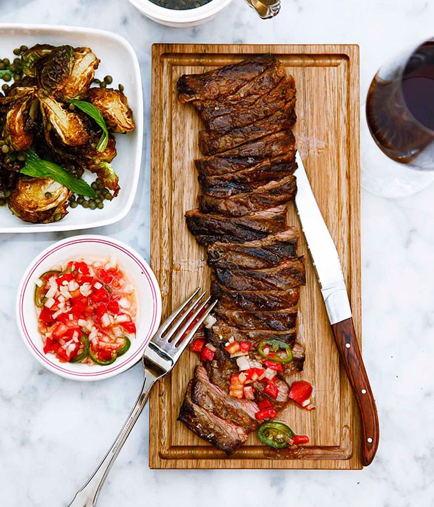 **Porteño, Sydney's skirt steak** Skirt steak is among the cuts that issues from the grill at Porteño.      PHOTOGRAPHY WILLIAM MEPPEM