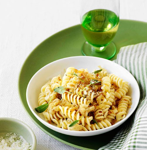 **Fusilli with cauliflower ragu, sage and pecorino** **Fusilli with cauliflower ragu, sage and pecorino**    [View Recipe](http://www.gourmettraveller.com.au/fusilli_with_cauliflower_ragu_sage_and_pecorino.htm)     PHOTOGRAPH **WILLIAM MEPPEM**