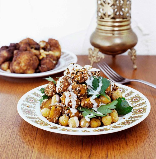 **Fried cauliflower with onion, currants and pine nuts** **Fried cauliflower with onion, currants and pine nuts**    [View Recipe](http://www.gourmettraveller.com.au/fried_cauliflower_with_onion_currants_and_pine_nuts_.htm)     PHOTOGRAPH **SHARYN CAIRNS**