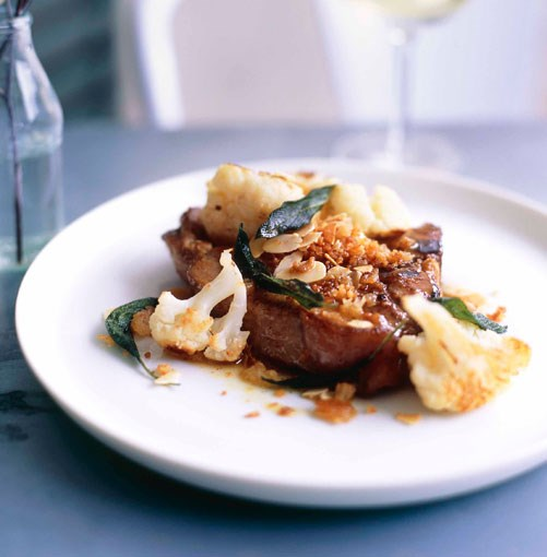 **Veal T-bones with anchovy crumbs, cauliflower and sage** **Veal T-bones with anchovy crumbs, cauliflower and sage**    [View Recipe](http://www.gourmettraveller.com.au/veal_tbones_with_anchovy_crumbs_cauliflower_and_sage.htm)     PHOTOGRAPH **CHRIS COURT**