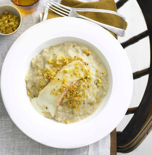 **Cauliflower and Taleggio risotto with anchovy pangrattato** **Cauliflower and Taleggio risotto with anchovy pangrattato**    [View Recipe](http://www.gourmettraveller.com.au/cauliflower_and_taleggio_risotto_with_anchovy_pangrattato.htm)     PHOTOGRAPH **TENY AGHAMALIAN**