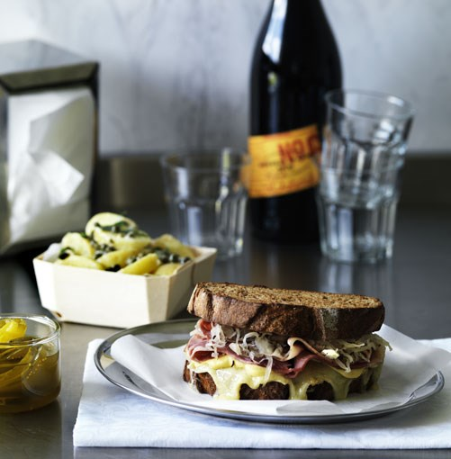 **New York deli Reuben** **New York deli Reuben**    [View Recipe](http://www.gourmettraveller.com.au/new_york_deli_reuben.htm)     PHOTOGRAPH **WILLIAM MEPPEM**