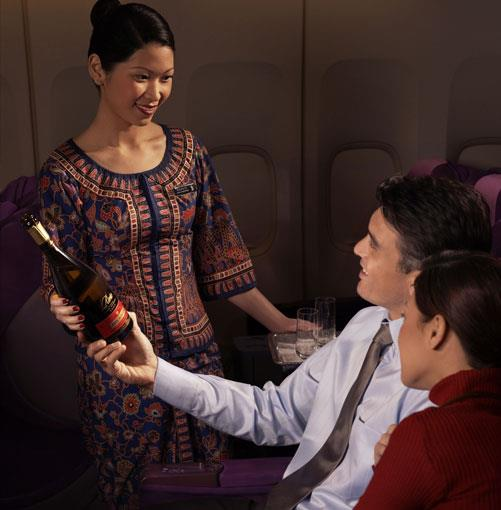 **Singapore Airlines** Best Airline Service: Singapore Airlines   Runner-up: Emirates   She's more than 60 years old but manages to retain a youthful edge in both her fleet and her service. The always-innovative Singapore Airlines was the first carrier to pamper jetsetters with free drinks and headsets, first to provide an in-flight phone service and first to fly the A380, and holds the record for the longest non-stop flight on the planet (Singapore to Newark in 2004). Instead of resting on its considerable laurels, the airline publicly declares its ongoing commitment to excellence in every aspect of service, a trait that serves it well in a rapidly changing aviation industry where Middle Eastern carriers are rising to challenge their Asian adversaries. Now flying to nearly 100 destinations in more than 40 countries and five continents, Singapore's national carrier is admired as much for its high-altitude entertainment as for its in-flight fare, conceived by a panel of nine renowned international chefs. www.singaporeair.com