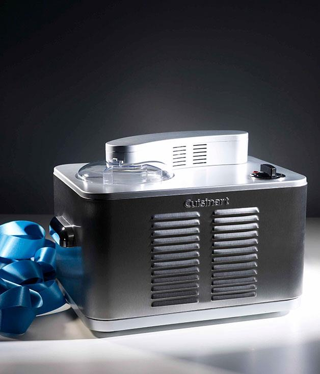 """**Cuisinart stainless-steel ice-cream maker with compressor** TO CHILL OUT WITH      """"It's compact, quiet and robust,"""" says food director Emma Knowles, whose ice-cream-making needs exceed most people's, of her machine of choice. It's fully automatic and makes 1.5 litres in a batch, with no pre-freezing required. [**Cuisinart**](http://www.cuisinart.com.au) stainless-steel ice-cream maker with compressor, $549"""