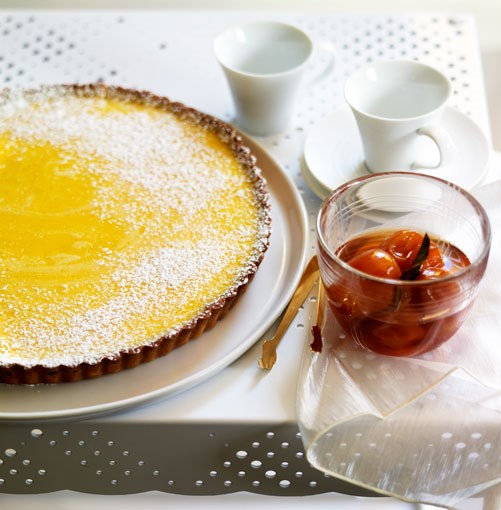 **Gin and lime tart with confit cumquats** **Gin and lime tart with confit cumquats**    [View Recipe](http://gourmettraveller.com.au/gin_and_lime_tart_with_confit_cumquats.htm)     PHOTOGRAPH **CHRIS CHEN**