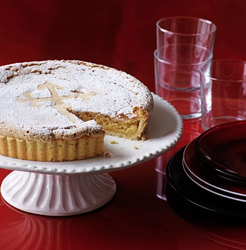 **Galician almond tart (Tarta de Santiago)** **Galician almond tart (Tarta de Santiago)**    [View Recipe](http://gourmettraveller.com.au/galician_almond_tart.htm)     PHOTOGRAPH **WILLIAM MEPPEM**