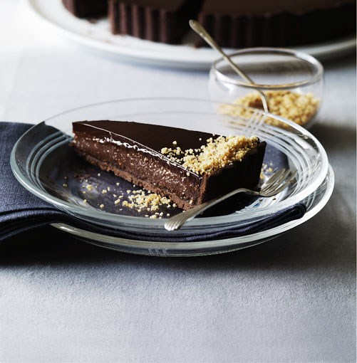 **Triple chocolate praline tart** **Triple chocolate praline tart**    [View Recipe](http://gourmettraveller.com.au/triple-chocolate-praline-tart.htm)     PHOTOGRAPH **WILLIAM MEPPEM**