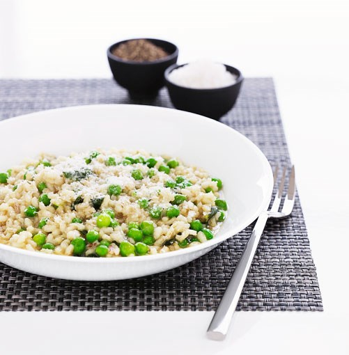 **Pea and mint risotto** **Pea and mint risotto**    [View Recipe](http://gourmettraveller.com.au/pea_and_mint_risotto.htm)     PHOTOGRAPH **BEN DEARNLEY**