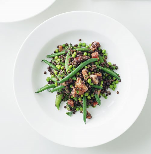**Pancetta, pea, lentil and mint salad** **Pancetta, pea, lentil and mint salad**    [View Recipe](http://gourmettraveller.com.au/pancetta_pea_lentil_and_mint_salad.htm)     PHOTOGRAPH **BRETT STEVENS**