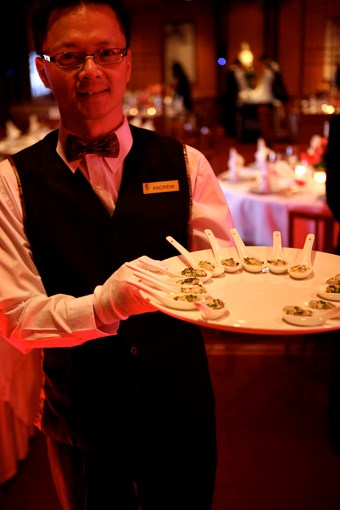 **** Andrew, just one of the 46 Flower Drum waiters on deck for the awards.