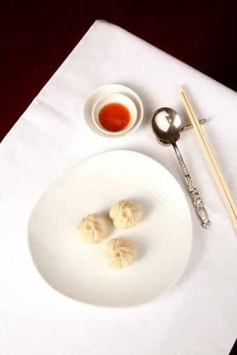 **** Shanghai-style crab dumplings with red vinegar