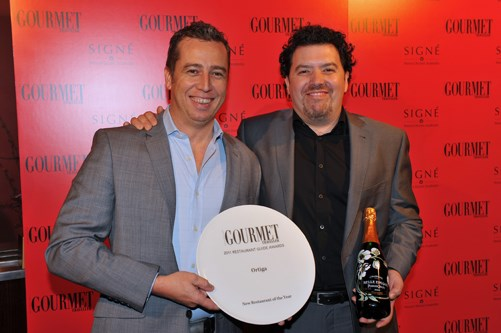 **** Simon Hill and Pablo Tordesillas, Best New Restaurant of the Year, Ortiga