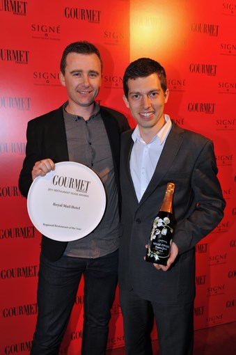 **** Dan Hunter and Clinton Trevisi, Regional Restaurant of the Year, Royal Mail Hotel