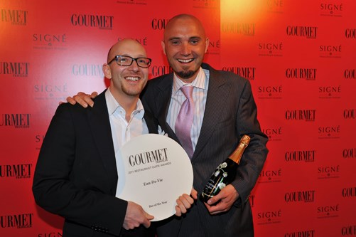 **** Barry Chalmers and Sven Almenning, Bar of the Year, Eau de Vie