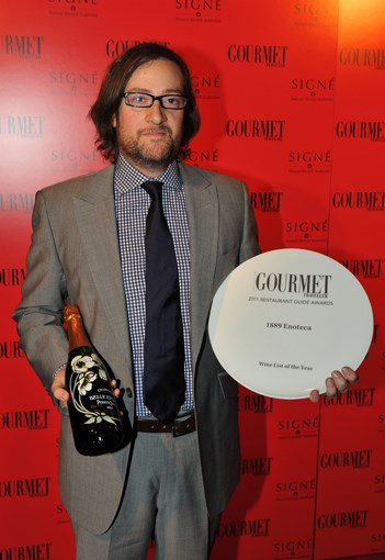 **** Wine List of the Year award winner Dan Clark, owner, 1889 Enoteca