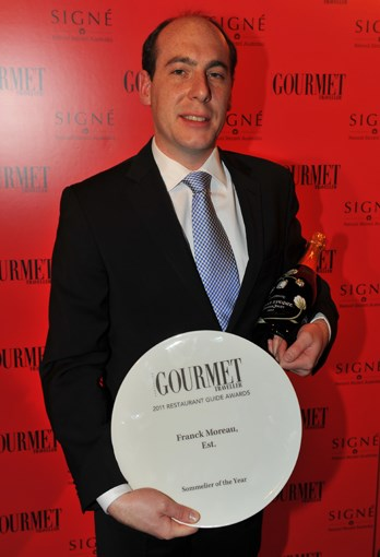 **** Sommelier of the Year Franck Moreau