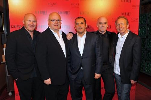 **** Matt Moran, Simon Johnson, Guillaume Brahimi, Mark Best, Will Studd