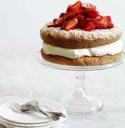 **Berry and lemon crème fraîche shortcake**