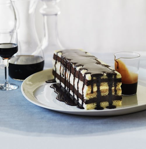 **Mocha layer cake** **Mocha layer cake**    [View Recipe](http://www.gourmettraveller.com.au/mocha-layer-cake.htm)     PHOTOGRAPH **WILLIAM MEPPEM**