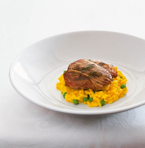 **Matt Moran's veal saltimbocca with risotto Milanese** **Matt Moran's veal saltimbocca with risotto Milanese**    [View Recipe](http://gourmettraveller.com.au/veal_saltimbocca_with_risotto_milanese.htm)     PHOTOGRAPH **GEOFF LUNG**
