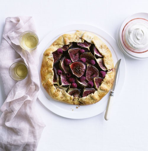 **Rockpool's fig and raspberry crostata** **Rockpool's fig and raspberry crostata**    [View Recipe](http://gourmettraveller.com.au/fig_and_raspberry_crostata.htm)     PHOTOGRAPH **BEN DEARNLEY**