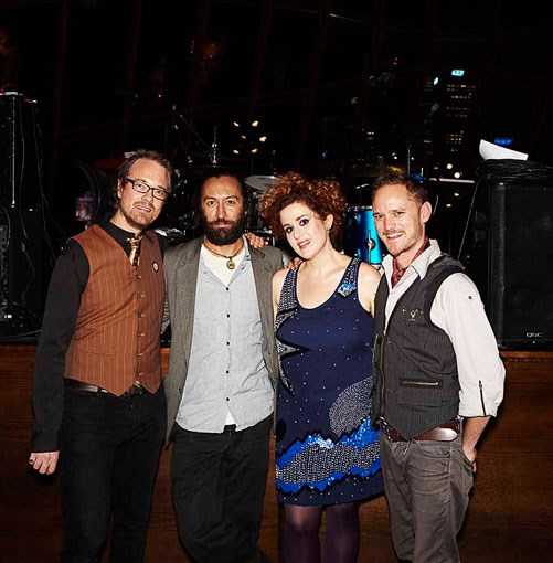 **Katie Noonan and The Captains** Singer Katie Noonan and her band The Captains.