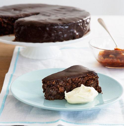 **Chocolate fig and hazelnut fudge cake with candied oranges** **Chocolate fig and hazelnut fudge cake with candied oranges**    [View Recipe](http://www.gourmettraveller.com.au/chocolate_fig_and_hazelnut_fudge_cake_with_candied_oranges.htm)     PHOTOGRAPH **CHRIS CHEN**