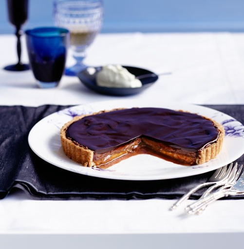 **Chocolate and caramel tart** **Chocolate and caramel tart**    [View Recipe](http://www.gourmettraveller.com.au/chocolate_and_caramel_tart.htm)     PHOTOGRAPH **BEN DEARNLEY**