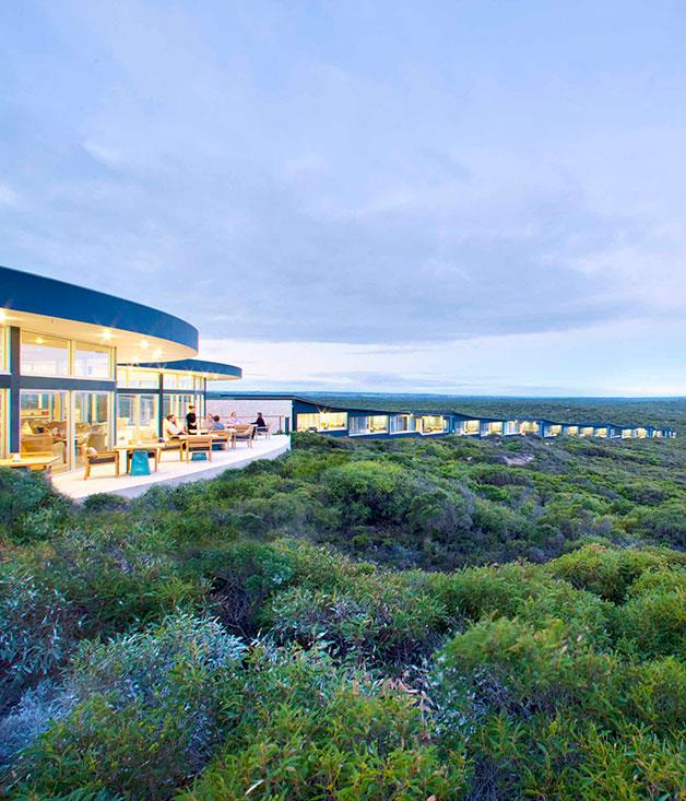 **Southern Ocean Lodge, Kangaroo Island, SA** Readers' Choice Awards: Best Resort/Lodge   Southern Ocean Lodge, Kangaroo Island, SA   Runner-up: Qualia, Hamilton Island, Qld   Let's face it – with a lodge the calibre of Southern Ocean on our doorstep, it's likely to be some time before another superlative property arrives to challenge its supremacy. James and Hayley Baillie's clifftop lodge is a masterstroke of modern architecture and creature comforts that has swiftly elevated Kangaroo Island to the wish-lists of the international jet set (and affluent Australians). The wave-shaped lodge takes its name from the surging sea that dominates views from each of the 21 suites as well as the communal Great Room. The lodge is a light-filled beacon of comfort amid the surrounding wilderness. Guest activities revolve around the great outdoors – encounters with wallabies, koalas and the island's colony of sea lions – and the great indoors – king-sized beds with goose-down pillows, an open cellar and cosy fires. www.southernoceanlodge.com.au