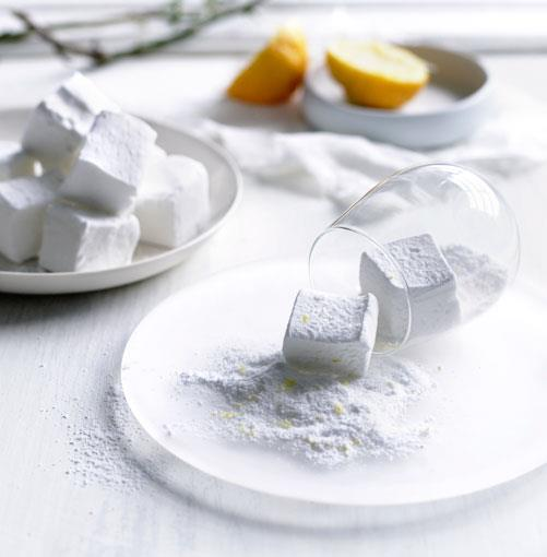 "**[Lemon sherbet marshmallows](http://gourmettraveller.com.au/lemon_sherbet_marshmallows.htm|target=""_blank"")** <br><br> PHOTOGRAPH: BEN DEARNLEY"