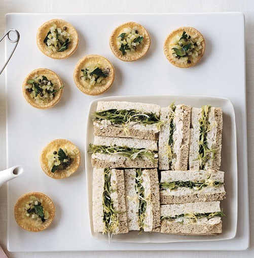 **[Roast chicken, lemon and green olive sandwiches](http://gourmettraveller.com.au/roast_chicken_lemon_and_green_olive_sandwiches.htm)** <br><br> PHOTOGRAPH: WILLIAM MEPPEM