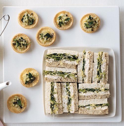 **[Roast chicken, lemon and green olive sandwiches](http://gourmettraveller.com.au/roast_chicken_lemon_and_green_olive_sandwiches.htm)** <br><br> PHOTOGRAPH: WILLIAM MEPPEM
