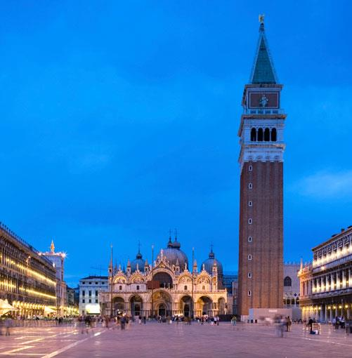 **St. Mark's Square with the Basilica San Marco and the Campanile** St. Mark's Square with the Basilica San Marco and the Campanile.      PHOTOGRAPH **UYEN LE**