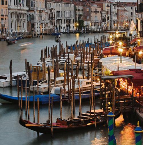 **Venice's gondolas** PHOTOGRAPH **ADAM JONES**