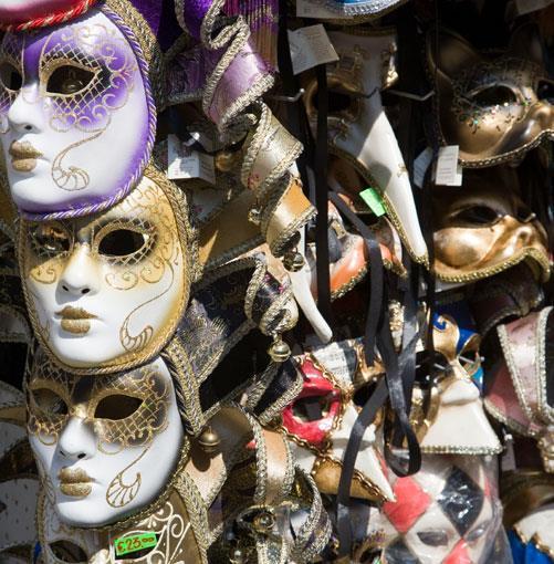**Venetian masks** PHOTOGRAPH **IMAGE SOURCE**