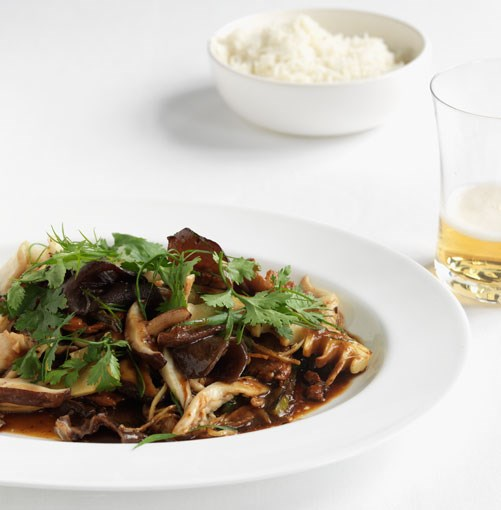 **Stir-fried chicken and Chinese mushrooms** **Stir-fried chicken and Chinese mushrooms**    [View Recipe](http://gourmettraveller.com.au/stir-fried-chicken-and-chinese-mushrooms.htm)     PHOTOGRAPH **JASON LOUCAS**