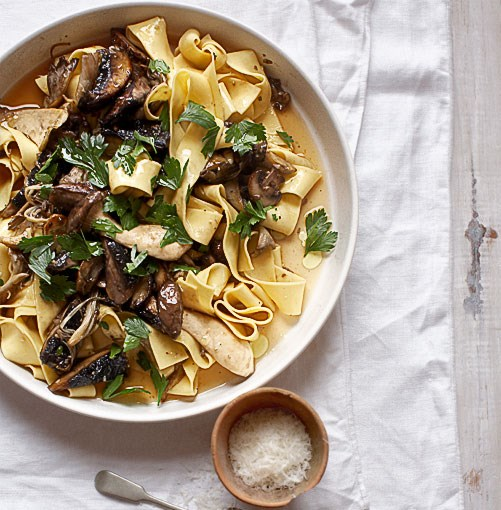 **Pappardelle with mushroom ragù (pappardelle con misto di funghi)** **Pappardelle with mushroom ragù (pappardelle con misto di funghi)**    [View Recipe](http://gourmettraveller.com.au/pappardelle-with-mushroom-rag-pappardelle-con-misto-di-funghi.htm)     PHOTOGRAPH **VANESSA LEVIS**