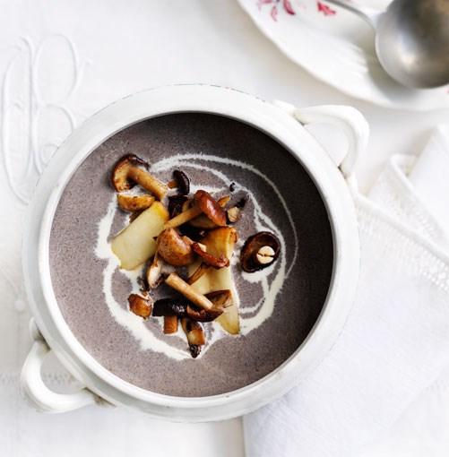 **Mushroom soup** **Mushroom soup**    [View Recipe](http://gourmettraveller.com.au/mushroom-soup.htm)     PHOTOGRAPH **BEN DEARNLEY**