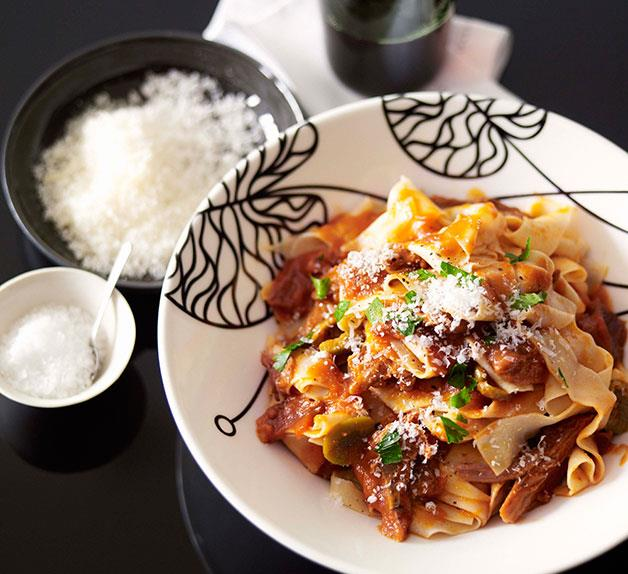 Pappardelle with braised goat ragù