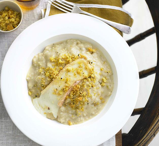 Cauliflower and Taleggio risotto with anchovy pangrattato