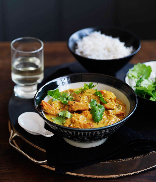 **** **Prawn curry**    [View Recipe](http://www.gourmettraveller.com.au/prawn-curry.htm)     PHOTOGRAPH **WILLIAM MEPPEM**
