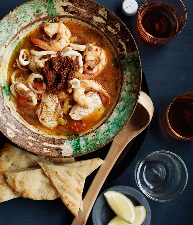 **** **Moroccan seafood soup**    [View Recipe](http://gourmettraveller.com.au/moroccan-seafood-soup.htm)