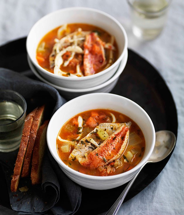 **** **Rustic Italian seafood soup**    [View Recipe](http://gourmettraveller.com.au/rustic-italian-seafood-soup-brodetto.htm)