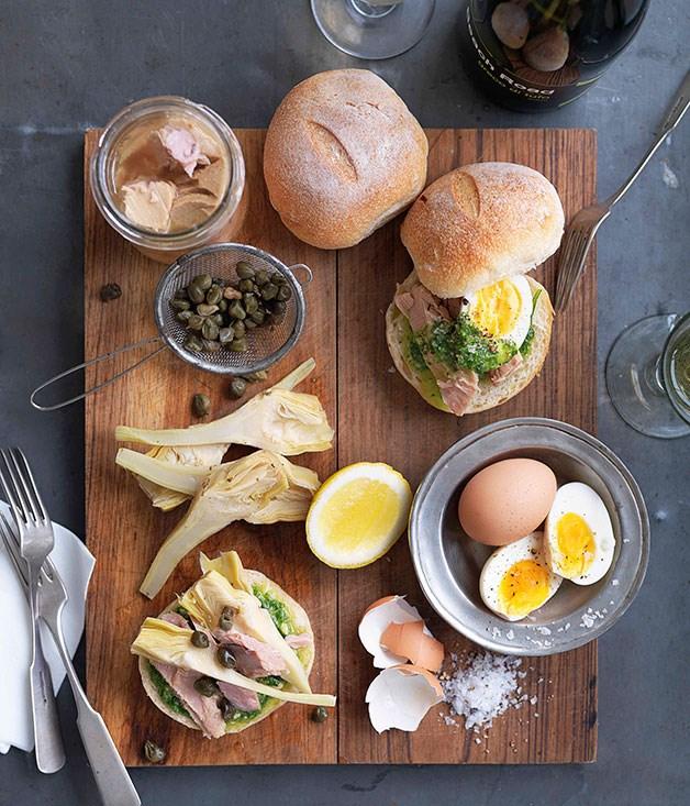 **Tuna, artichoke and pesto panini** **Tuna, artichoke and pesto panini**    [View Recipe](http://gourmettraveller.com.au/tuna-artichoke-and-pesto-panini.htm)     PHOTOGRAPH **WILLIAM MEPPEM**