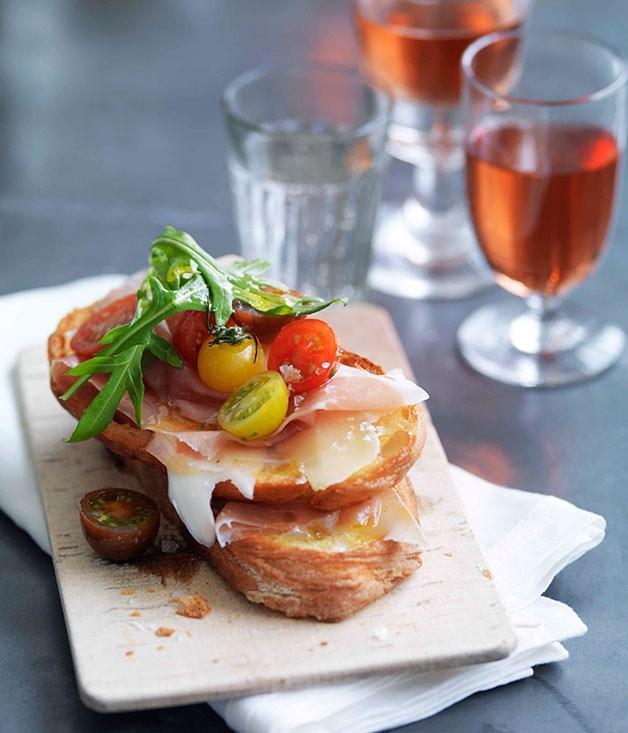 **Prosciutto, fontina, rocket and cherry tomato bruschetta** **Prosciutto, fontina, rocket and cherry tomato bruschetta**    [View Recipe](http://gourmettraveller.com.au/prosciutto-fontina-rocket-and-cherry-tomato-bruschetta.htm)     PHOTOGRAPH **WILLIAM MEPPEM**