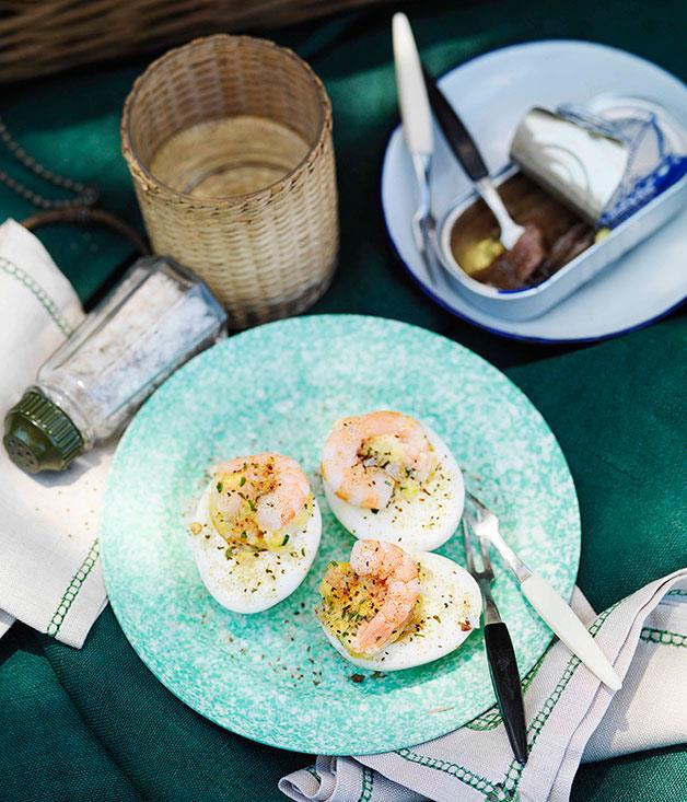 **Stuffed eggs** **Stuffed eggs**    [View Recipe](http://gourmettraveller.com.au/stuffed-eggs.htm)     PHOTOGRAPH **WILLIAM MEPPEM**