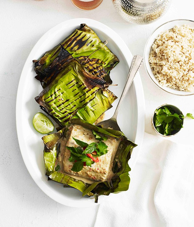 Grilled mulloway curry