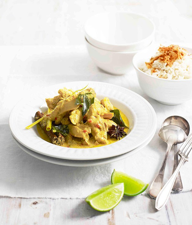 **Malaysian chicken curry** **Malaysian chicken curry**    [View Recipe](http://www.gourmettraveller.com.au/malaysian-chicken-curry.htm)