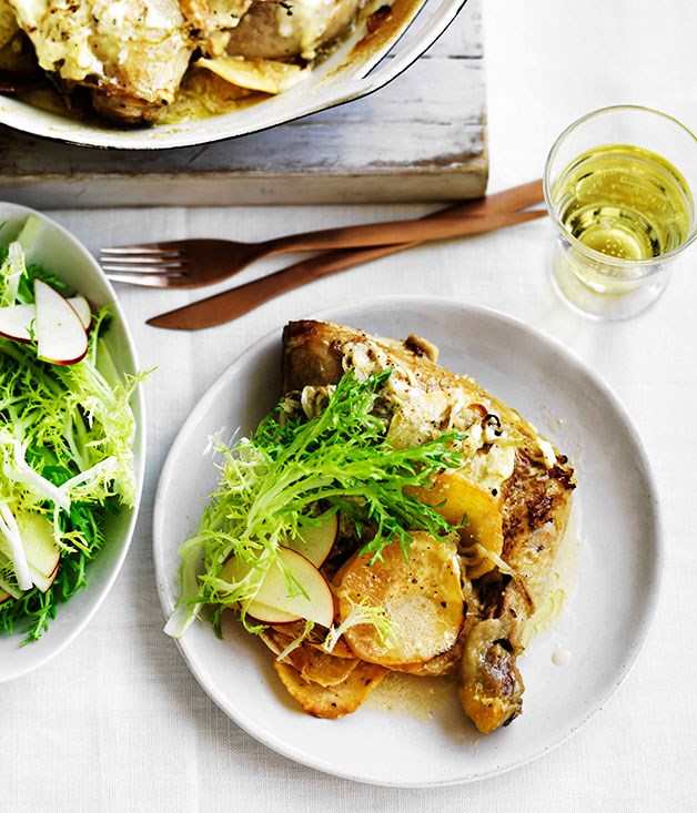 **Chicken with swede, cider and crème fraîche** **Chicken with swede, cider and crème fraîche**    [View Recipe](http://www.gourmettraveller.com.au/chicken-with-swede-cider-and-creme-fraiche.htm)