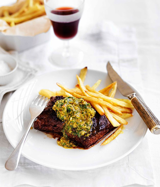 **** **Onglet with Café de Paris butter and frites**    [View Recipe](http://gourmettraveller.com.au/onglet-with-caf-de-paris-butter-and-frites.htm)